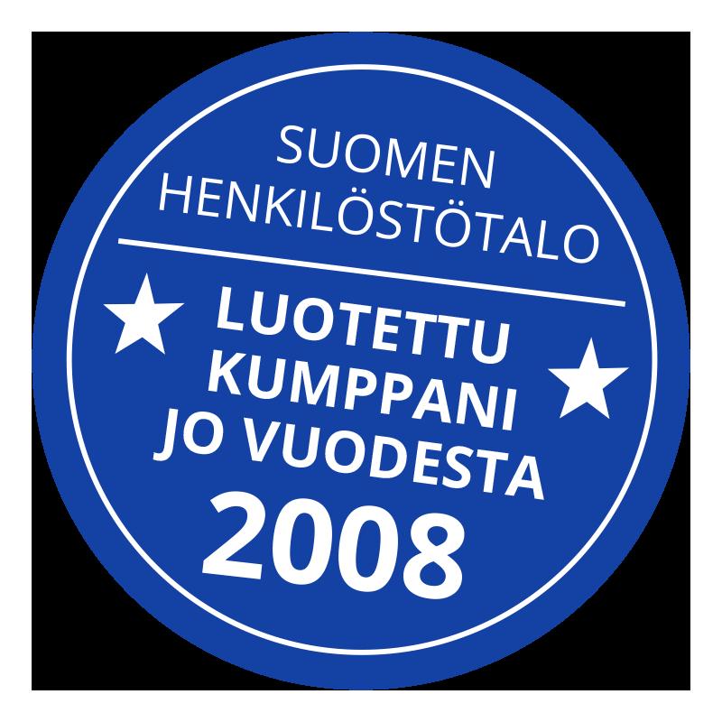 Luotettu kumppani jo vuodesta 2008
